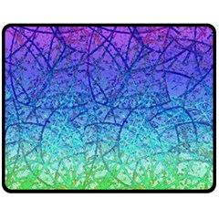 Grunge Art Abstract G57 Double Sided Fleece Blanket (medium)  by MedusArt