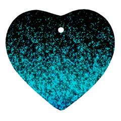 Glitter Dust G162 Heart Ornament (2 Sides) by MedusArt