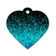 Glitter Dust G162 Dog Tag Heart (one Side) by MedusArt