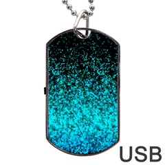 Glitter Dust G162 Dog Tag Usb Flash (two Sides)  by MedusArt