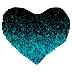 Glitter Dust G162 Large 19  Premium Heart Shape Cushions by MedusArt