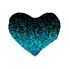 Glitter Dust G162 Standard 16  Premium Flano Heart Shape Cushions by MedusArt