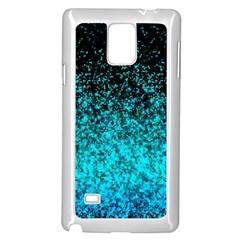 Glitter Dust G162 Samsung Galaxy Note 4 Case (White) by MedusArt