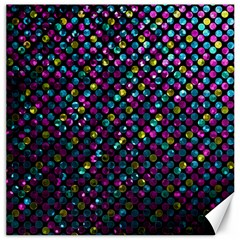 Polka Dot Sparkley Jewels 2 Canvas 12  X 12   by MedusArt