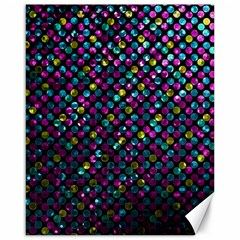 Polka Dot Sparkley Jewels 2 Canvas 16  X 20   by MedusArt
