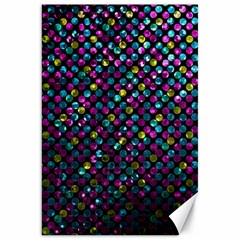 Polka Dot Sparkley Jewels 2 Canvas 20  X 30   by MedusArt