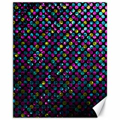 Polka Dot Sparkley Jewels 2 Canvas 11  X 14   by MedusArt