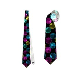 Polka Dot Sparkley Jewels 2 Neckties (two Side)  by MedusArt