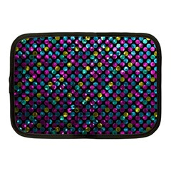 Polka Dot Sparkley Jewels 2 Netbook Case (medium)  by MedusArt