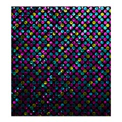 Polka Dot Sparkley Jewels 2 Shower Curtain 66  X 72  (large)  by MedusArt