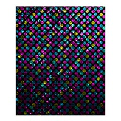 Polka Dot Sparkley Jewels 2 Shower Curtain 60  X 72  (medium)  by MedusArt
