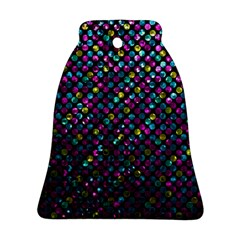 Polka Dot Sparkley Jewels 2 Bell Ornament (2 Sides) by MedusArt