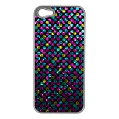 Polka Dot Sparkley Jewels 2 Apple Iphone 5 Case (silver) by MedusArt