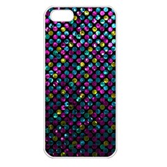 Polka Dot Sparkley Jewels 2 Apple Iphone 5 Seamless Case (white) by MedusArt