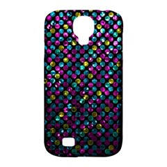 Polka Dot Sparkley Jewels 2 Samsung Galaxy S4 Classic Hardshell Case (pc+silicone) by MedusArt