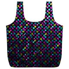 Polka Dot Sparkley Jewels 2 Full Print Recycle Bags (l)  by MedusArt