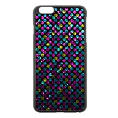 Polka Dot Sparkley Jewels 2 Apple Iphone 6 Plus/6s Plus Black Enamel Case by MedusArt