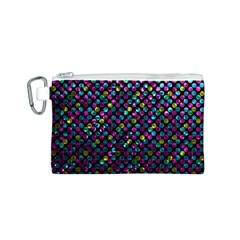 Polka Dot Sparkley Jewels 2 Canvas Cosmetic Bag (s) by MedusArt