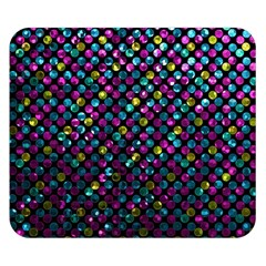 Polka Dot Sparkley Jewels 2 Double Sided Flano Blanket (small)  by MedusArt