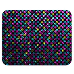 Polka Dot Sparkley Jewels 2 Double Sided Flano Blanket (medium)  by MedusArt