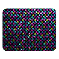 Polka Dot Sparkley Jewels 2 Double Sided Flano Blanket (large)  by MedusArt