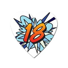 Comic Book 18 Blue Heart Magnet by ComicBookPOP