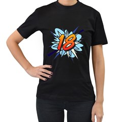 Comic Book 18 Blue Women s T Shirt (black) by ComicBookPOP