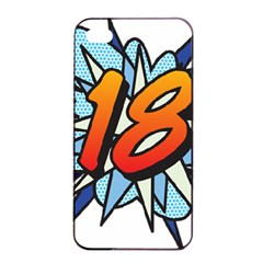 Comic Book 18 Blue Apple Iphone 4/4s Seamless Case (black) by ComicBookPOP