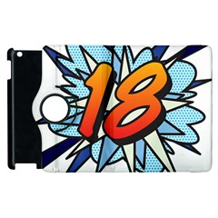 Comic Book 18 Blue Apple Ipad 2 Flip 360 Case by ComicBookPOP