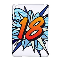 Comic Book 18 Blue Apple Ipad Mini Hardshell Case (compatible With Smart Cover) by ComicBookPOP