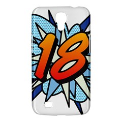 Comic Book 18 Blue Samsung Galaxy Mega 6 3  I9200 Hardshell Case by ComicBookPOP