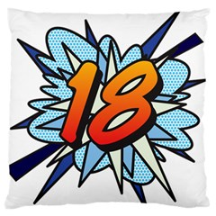 Comic Book 18 Blue Large Flano Cushion Cases (one Side)  by ComicBookPOP
