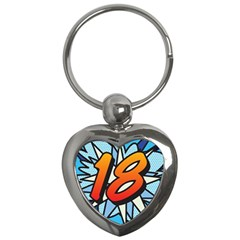Comic Book 18 Blue Key Chains (heart)  by ComicBookPOP