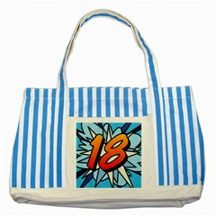Comic Book 18 Blue Striped Blue Tote Bag  by ComicBookPOP