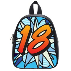 Comic Book 18 Blue School Bags (small)  by ComicBookPOP