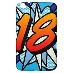 Comic Book 18 Blue Samsung Galaxy Tab 3 (8 ) T3100 Hardshell Case  by ComicBookPOP