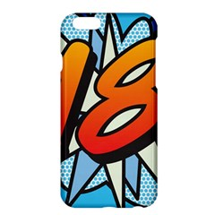 Comic Book 18 Blue Apple Iphone 6 Plus/6s Plus Hardshell Case by ComicBookPOP