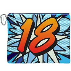 Comic Book 18 Blue Canvas Cosmetic Bag (xxxl)  by ComicBookPOP