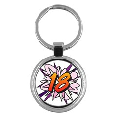 Comic Book 18 Pink Key Chains (round)  by ComicBookPOP