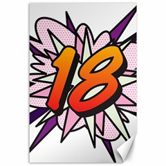 Comic Book 18 Pink Canvas 24  X 36  by ComicBookPOP