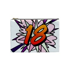 Comic Book 18 Pink Cosmetic Bag (medium)  by ComicBookPOP