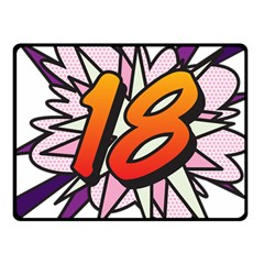 Comic Book 18 Pink Fleece Blanket (small) by ComicBookPOP
