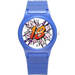Comic Book 18 Pink Round Plastic Sport Watch (s) by ComicBookPOP