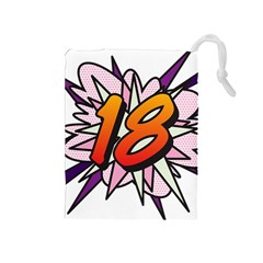 Comic Book 18 Pink Drawstring Pouches (medium)  by ComicBookPOP