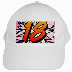 Comic Book 18 Pink White Cap by ComicBookPOP