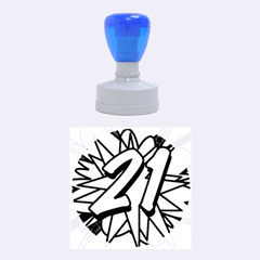 Comic Book 21 Blue Rubber Round Stamps (Medium) by ComicBookPOP