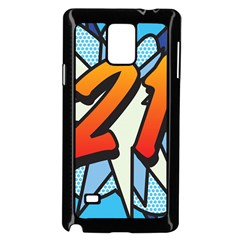 Comic Book 21 Blue Samsung Galaxy Note 4 Case (Black) by ComicBookPOP