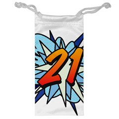 Comic Book 21 Blue Jewelry Bags by ComicBookPOP