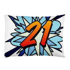 Comic Book 21 Blue Pillow Cases by ComicBookPOP