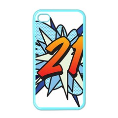 Comic Book 21 Blue Apple Iphone 4 Case (color) by ComicBookPOP